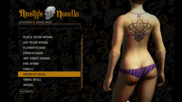saints row customization options