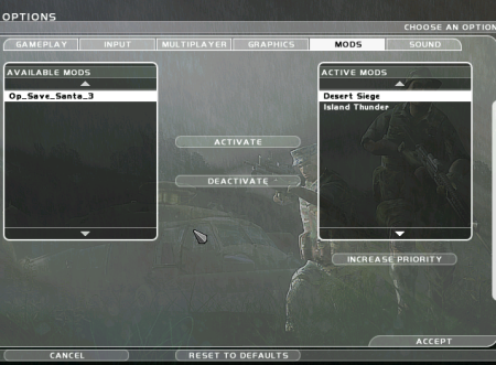 Activate Ghost Recon Mod