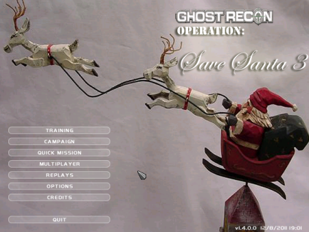 Ghost Recon Main Menu showing custom mod background