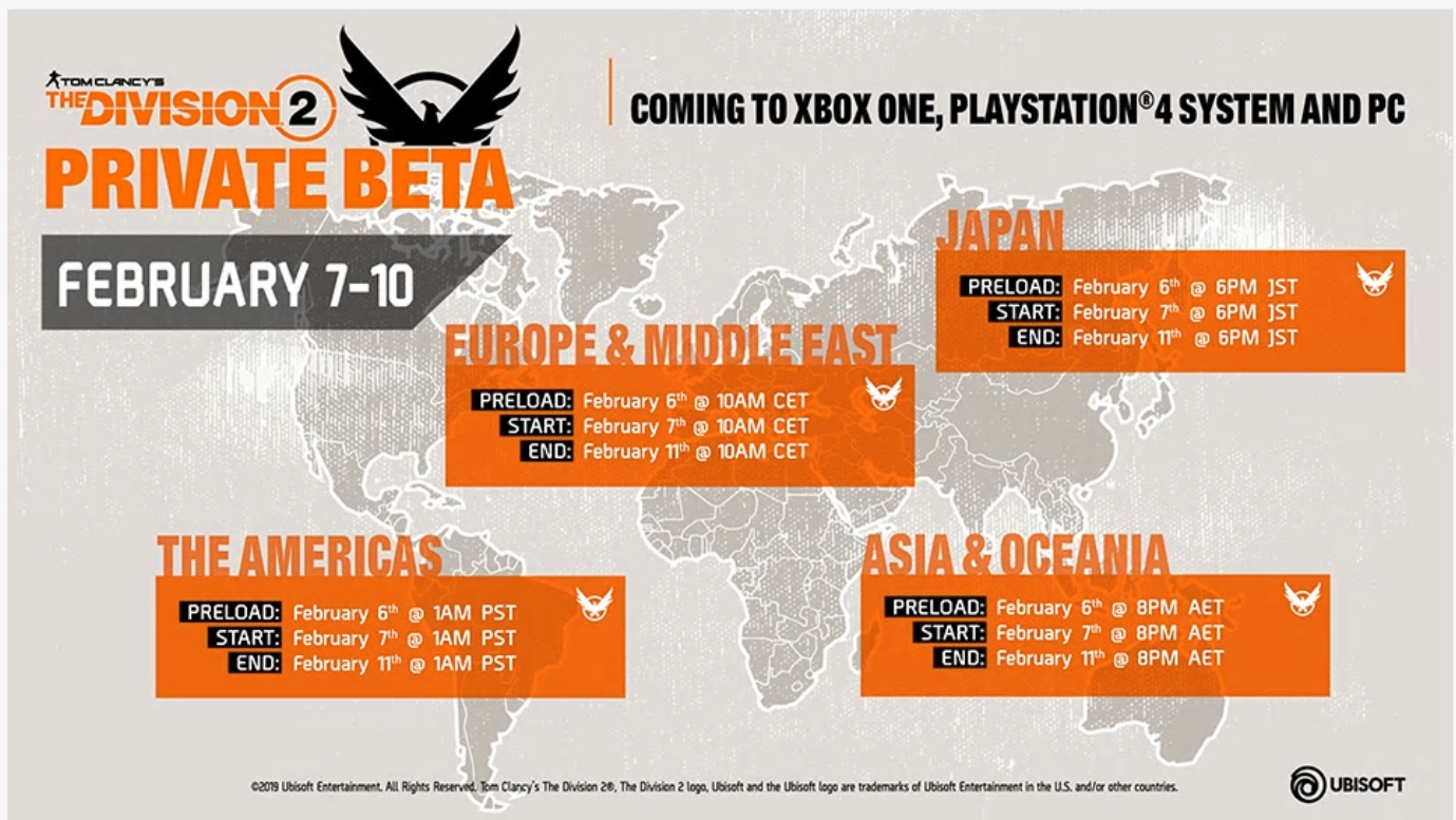 The Division 2 Beta - Simulation games - Ghost Recon net Forums