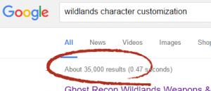 wildlands character customization