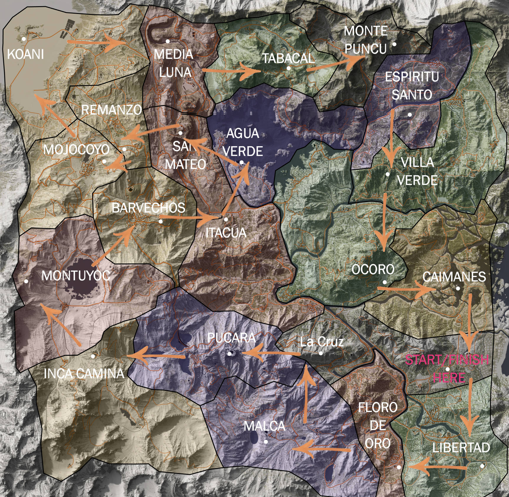 wildlands skull map all 21 locations