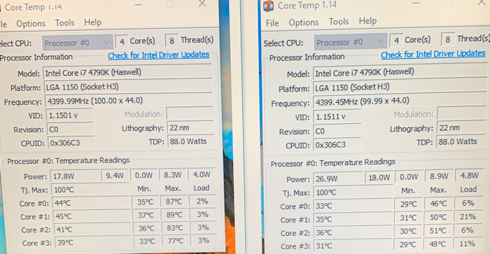 temp results after cryorig h7 is fitted