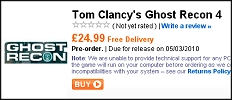 Ghost Recon Release Date