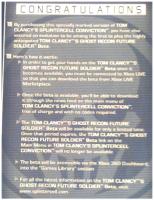 Splinter Cell Convictions GRFS Beta Leaflet