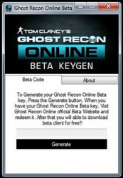 Ghost Recon Online Beta Key Gen